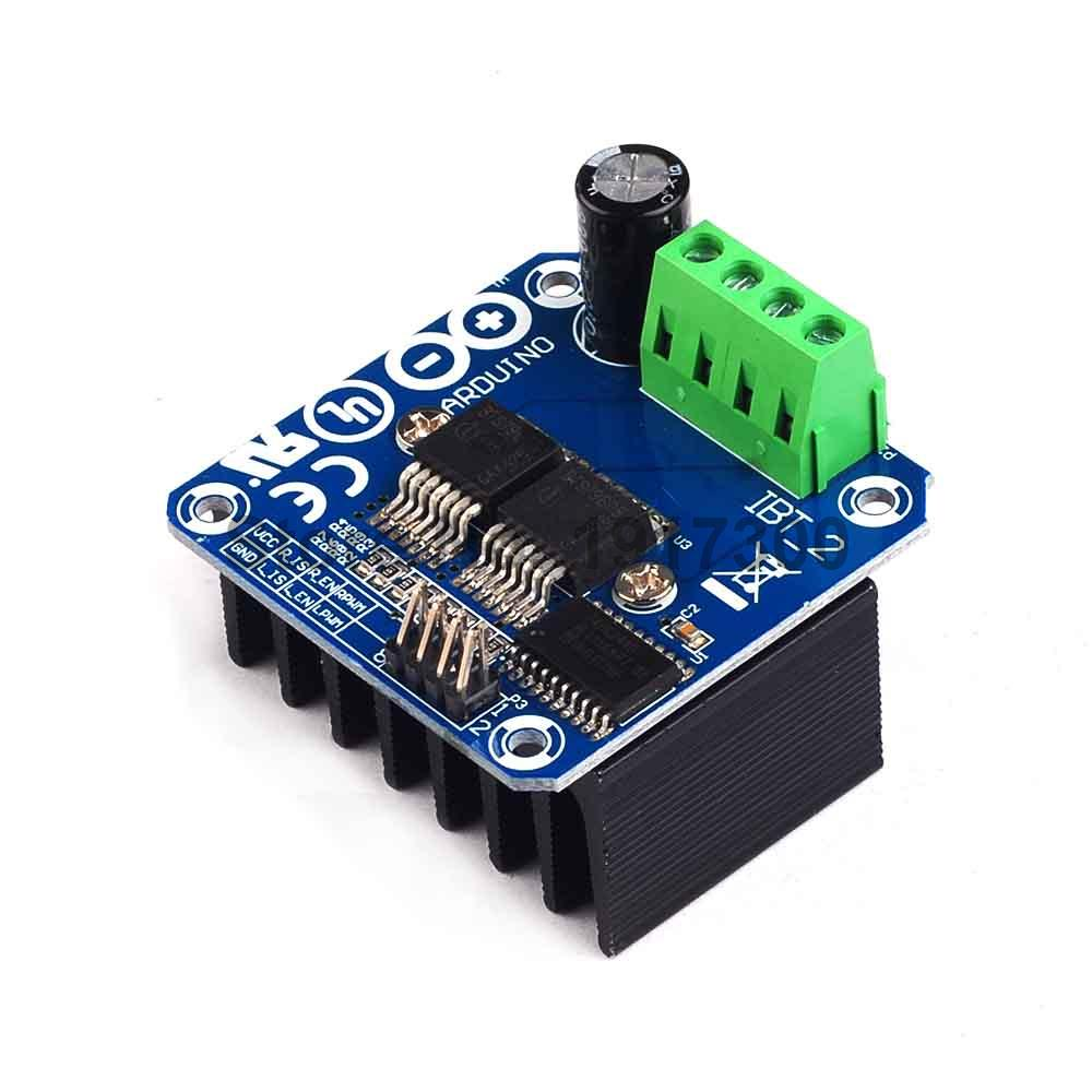 Free Shipping High power Sart Car Motor Drive Module BTS7960 43A Semiconductor Refrigeration Drive for font