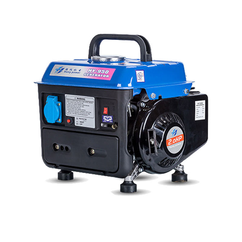 650W Portable Gasoline Generator 220V AC Output Silent Camping Inverter Generator Set