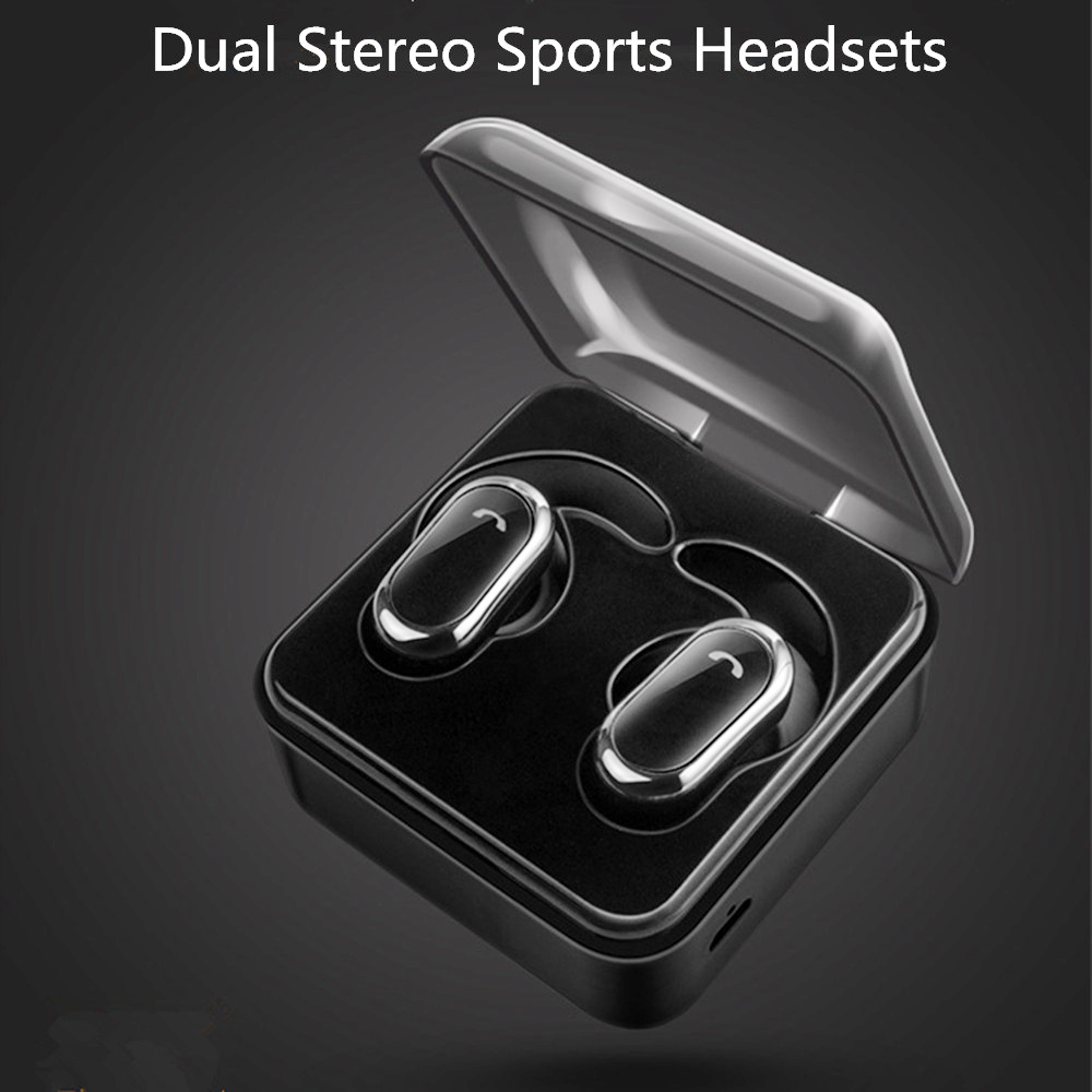 Twins mini earphones Bluetooth V4.2 Wireless With 700mAh Charger box Power Bank Dual Earbuds Sports Stereo Music Smart Headsets