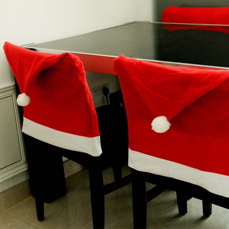 Chair Covers Xmas Herman Miller Aeron Hong Kong 4pcs Lot Christmas Cover Non Woven Enfeites Para Casa Dinner Table Navidad Decorations For Home Z