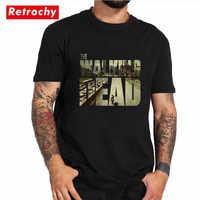 Футболка с героями мультфильма «Ходячие мертвецы», футболка с папарацзи, Риком грайсом, Карлом дарилом мичонне, zombies, хлопковые модные летни...