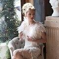 Romantic Ivory Winter Fur Ostrich Feather Coats Wedding Boleros 2017 Fashion Short Bridal Jackets Wraps Wedding Accessories B205