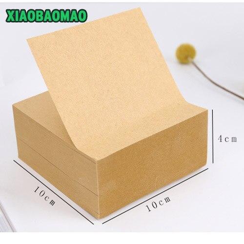 400 sheets Kraft Paper Memo Pad Kawaii Stationery Office Supplies Post It Notepad Diy School Stationery Office Desk Decoration