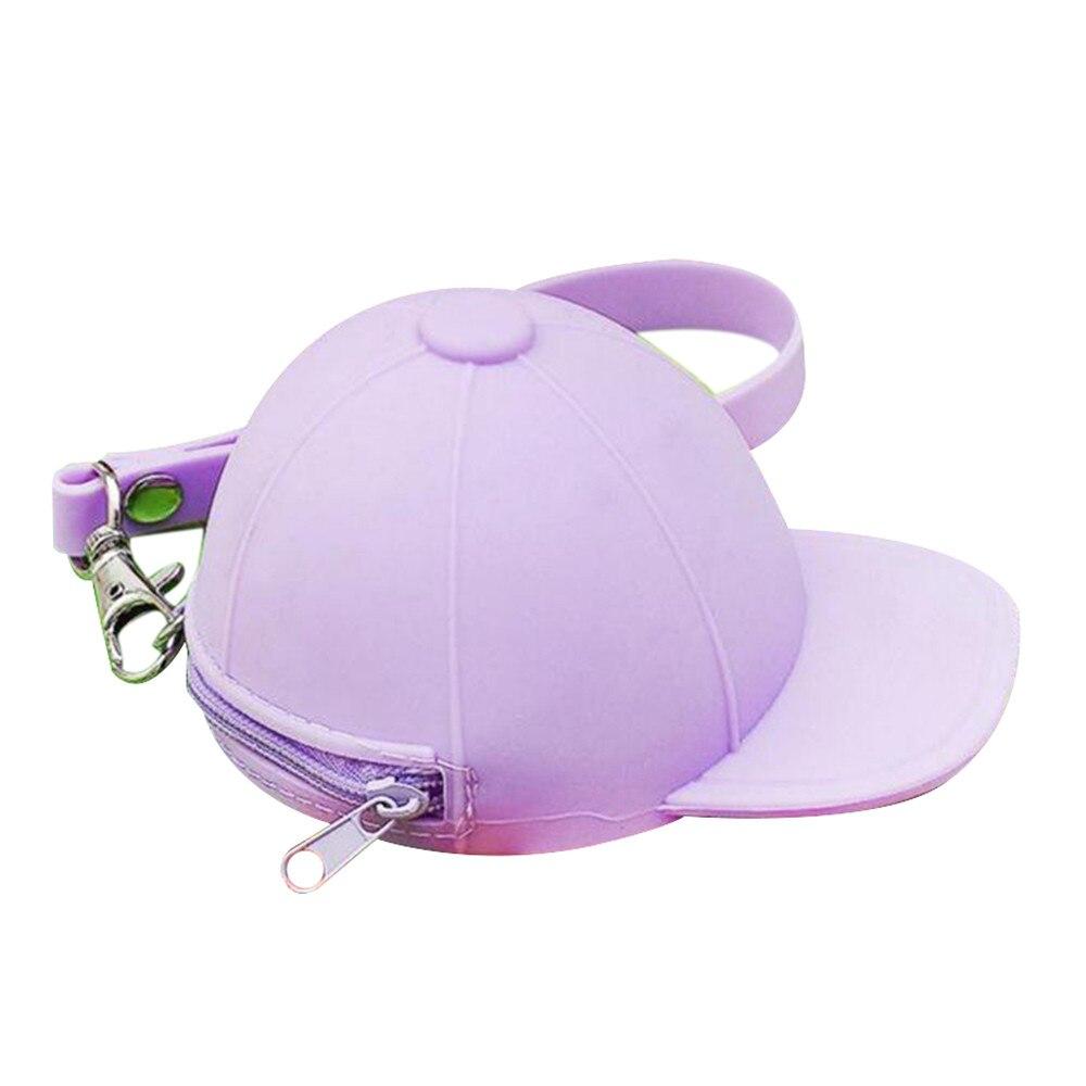 Women Cool Ball Hat Shaped Purse Silicone Coin Purse Cute Girls Mini Wallets Fashion Lody Change Bag monederos kawaii