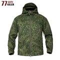 77 stadt Mörder Shark Soft Shell Military Tactical Jacke Männer Wasserdichte Warme Windjacke Mantel Camouflage Mit Kapuze Jacke Kleidung