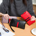 Fashion Ladies Leather Wallets Female Real Leather Phone Zipper Clutch Women Genuine Leather Coin Make up Purse CZ4606