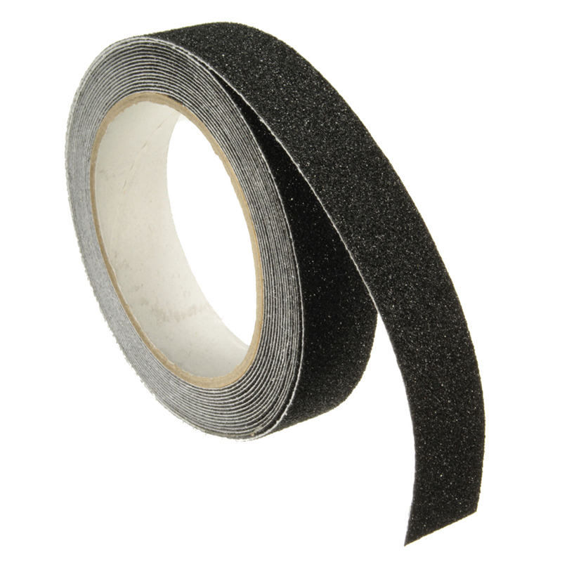 Safurance 5m x 2.5cm Black Roll Safety Anti-slip Tape Non Skid Safe Grit Tape Grip Sticker Warning Tape 5cm 5m frosted surface anti slip tape abrasive for stairs tread step safety tape non skid safety tapes