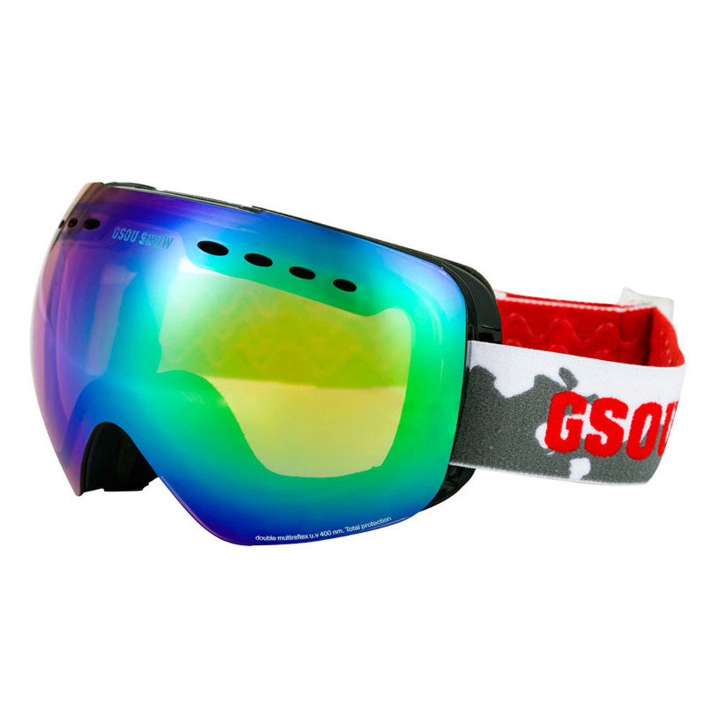 0b11c7180774 Gsou Snow Brand Unisex Ski Goggles Men Women Double Layers UV400 Anti fog  Skiing Googles Snowboard Goggles Winter Snow Glasses -in Skiing Eyewear  from ...