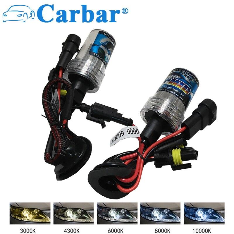 Carbar# HB4 Xenon HID 35W 4300K 6000K 8000K HID Xenon Lamp Car HID Xenon Headlight Bulb 35W H1 H3 9006 H7 H8 H11 9005 9012