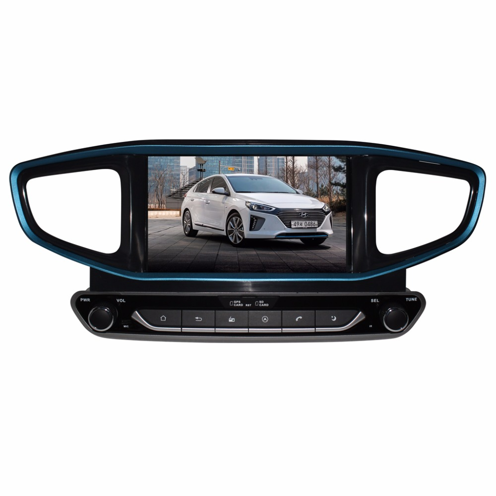RAM:2GB ROM 16GB Quad Core Android 7.1 Car DVD Player for HYUNDAI IONIQ/Ioniq Hybrid Radio GPS Navigation Car Media Player lsqstar st 9079c 7 android car dvd player w 1gb ram 8gb rom gps wi fi for hyundai elantra