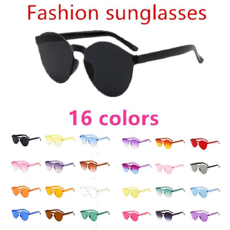 Flat Sunglasses Mirror Oculos-De-Sol Uv400-Eyewear Candy-Color Designer Luxury Brand