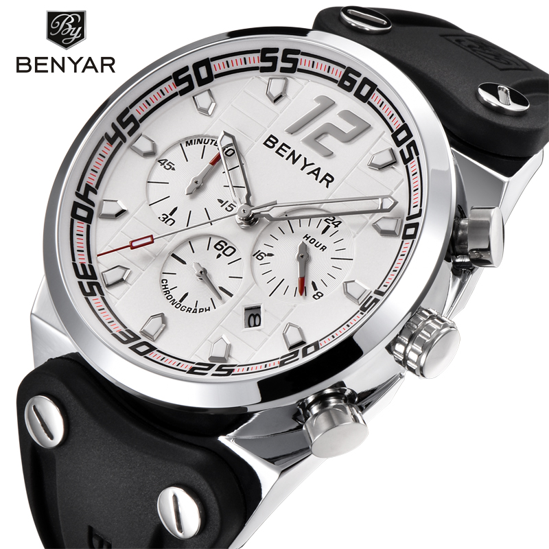 BENYAR Brand Watch Men Army Military Watches Top Brand Luxury Sport Quartz Wrist Watch Business Male Clock Relogio Masculino ochstin watches men top brand luxury clock men s silicone casual quartz relogio masculino male army military sport wrist watch