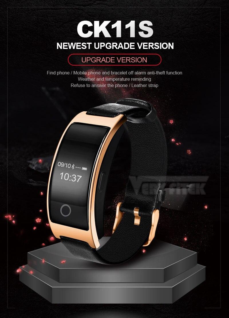 VERYFiTEK CK11S Fitness Bracelet Blood Pressure Smart Wristband heart rate monitor pulsometer Bracelets for xiomi pk fit bit-01 (2)
