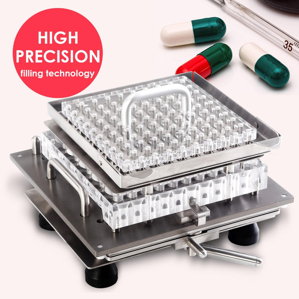 Top Quality CN-100M Size 1 Stainless Steel Semi-Automatic Capsule Filler Machine,Capsule Filling Tooling For Joined Capsule  double hopper stainless steel semi automatic food chemical particle filling machine
