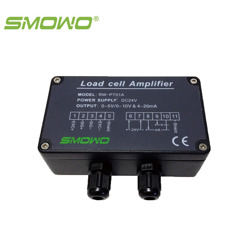 Amplifier load cell transmitter high precision  RW-PT01A(E)  0.05% full bridge strain gauge smowo pressure sensor output amplifier 0 10v 4 20ma transmitter rw st01a weighing force measurement balance load cell amplifier