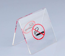 Free shipping New arrival V-type Restaurant table No smoking signs card clear acrylic table Card holder Public Places Billboard free shipping acrylic clear desk table mini acrylic lucite table