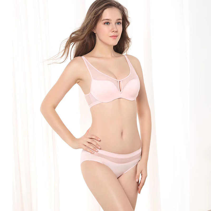 f22a6c36be3f ... 2019 New Wire Free Push Up Bra Brief Sets Comfortable Underwear Women  Sexy Lingerie Small Chest ...