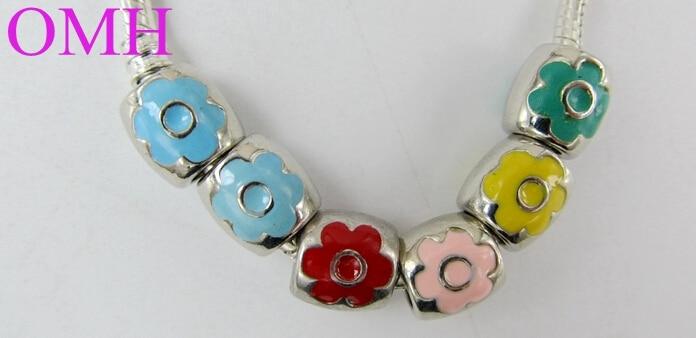 80pcs multicolors tubulaire Perles En Verre Bracelet Collier Bijoux Artisanat Accessoire