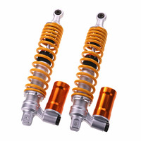 Motorcycle Rear Shock Absorbers Gas Dampers Inverted 320mm 340mm 360mm Hard And Soft Adjustable For Yamaha Nmax Pgo Gtr125 Pcx