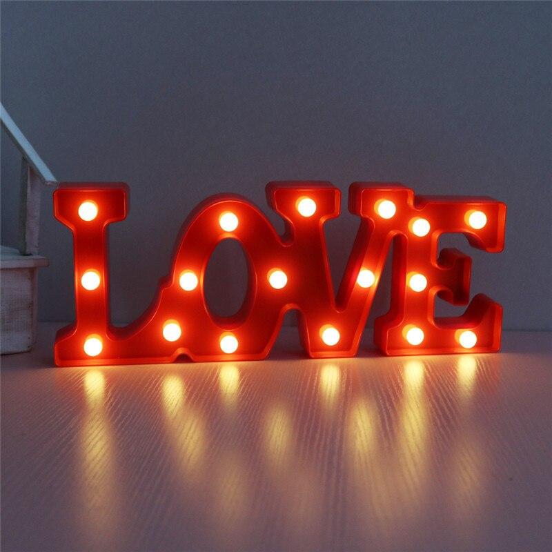 Любовь Знак ночь светодиодные фонари Медный провод 2AA Батарея работает Свадебная вечеринка украшения Рождественские огни Открытый Размеры...