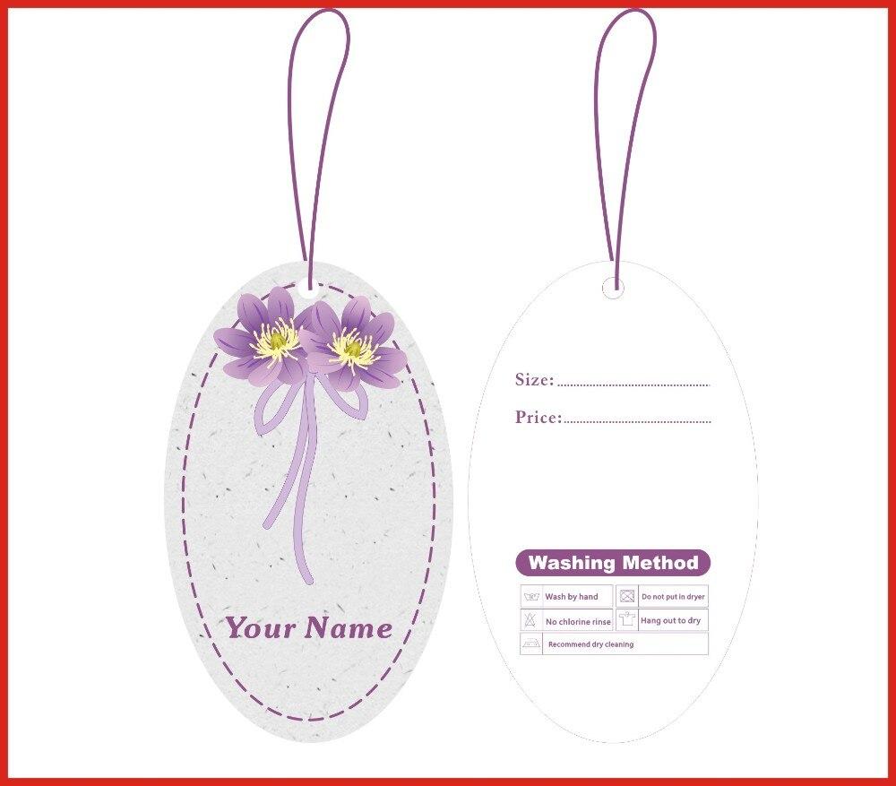Impresión personalizada etiquetas colgantes etiqueta precio ...