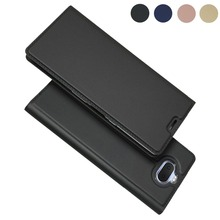 LUCKBUY Leather Flip Case For Sony Xperia XA3 Ultra XA2 Plus Luxury Wallet Phone Cover for XA 3
