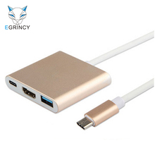Hot Sale Type-C 3.1 Male To USB3.0 HDMI Type C Female Charger Adapter Cable 4K USB-C 3.1 Converter For Macbook Google Chromebook