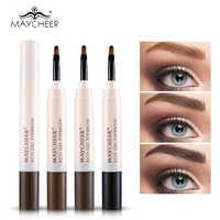 Augenbraue Make-Up Wasserdichte Augenbrauen Färben Creme Lang anhaltende Wasserdichte Augenbraue Enhancer mit Pinsel Braun Grau Augenbrauen Gel Bleistift