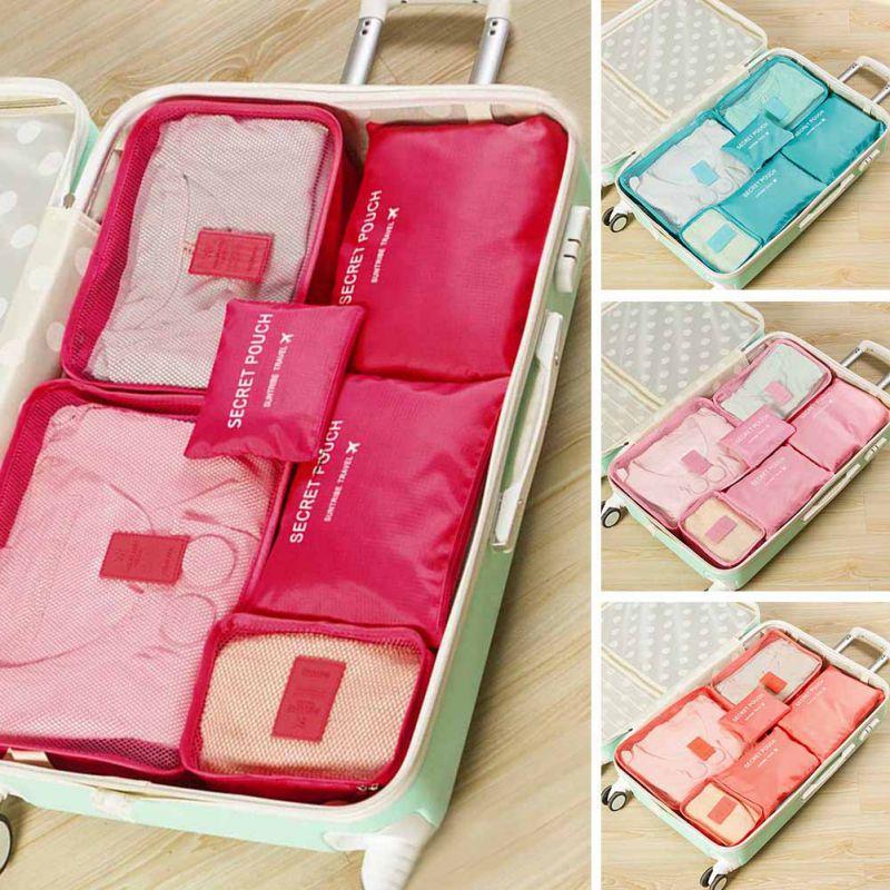 7PCS Storage Bag Set Waterproof Clothes Underwear Organizer Pouch Portable Suitcase Closet Divider Container Organiser Travel