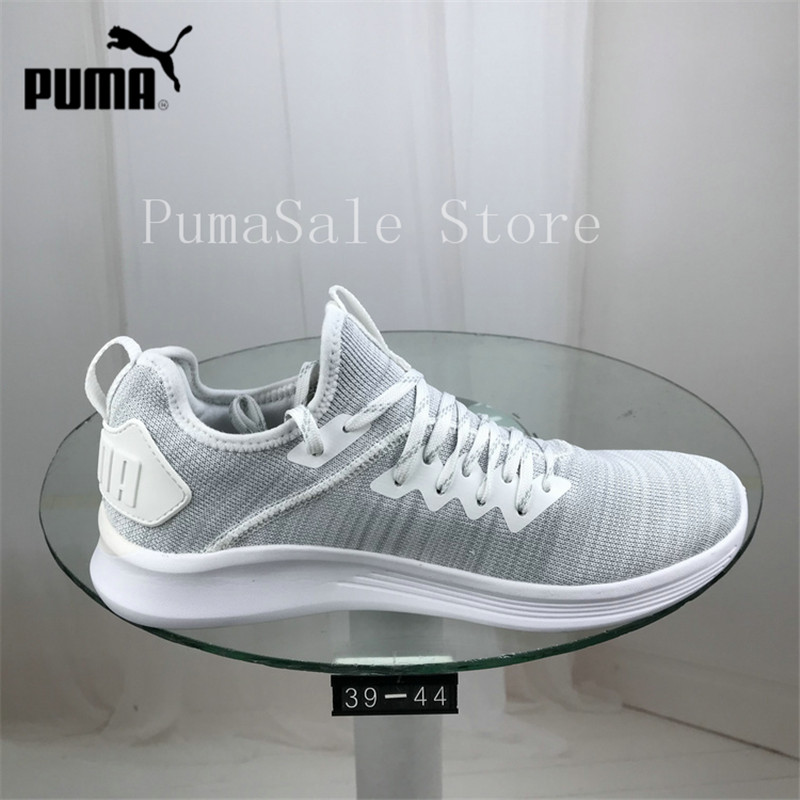 premium selection 2149c d07ea US $53.0 17% OFF|2018 Original PUMA Men's Ignite Flash Evoknit Sneaker Knit  Woven Sneakers Breathable Runs Badminton Shoes Size 39 44-in Badminton ...