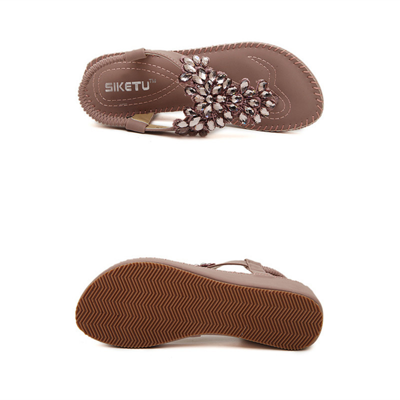 e15a52be06e Luxury Rhinestone Flower Flip Flops Wedge Sandals Women 2015 Summer Fashion  Trendy Beach Platform Shoes Size 5 8.5 Free Shipping-in Women s Sandals  from ...