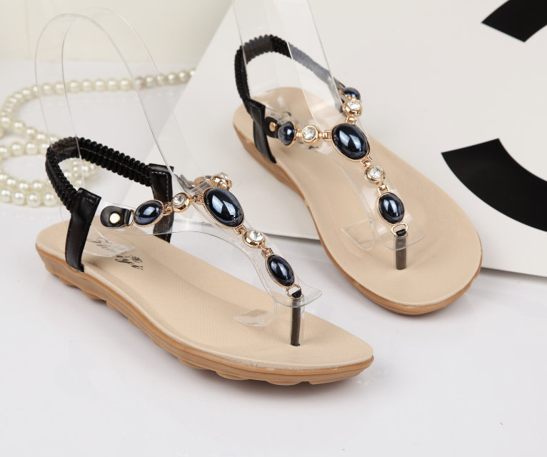 c3d1f84f1 2015 summer sexy sandales femmes comfortable flat shoes jelly pearl sandals-in  Women s Sandals from Shoes on Aliexpress.com