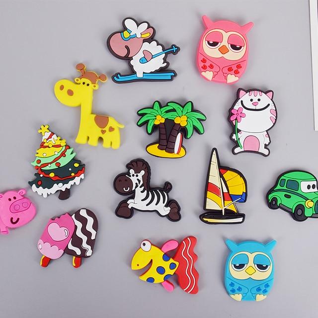 Mini Cartoon Animal silicone magnets whiteboard fridge sticker Refrigerator Magnets Kids gift Home Decoration