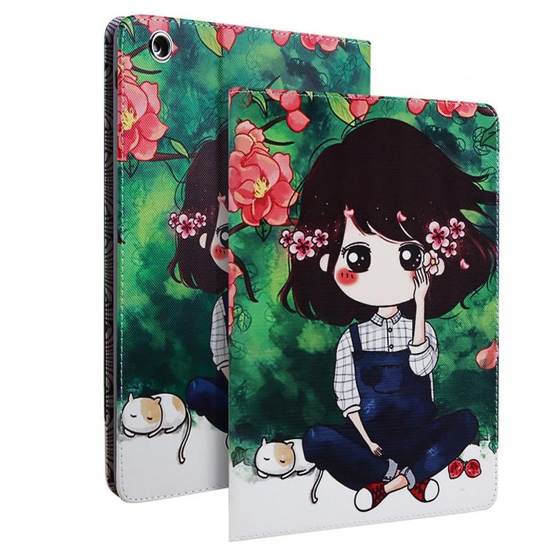 Cover Case for Funda iPad 2 iPad 3 iPad 4 Capa Para Summer Flower Girls Series PU Leather Anti-Dust Smart Case for iPad 4 Cover