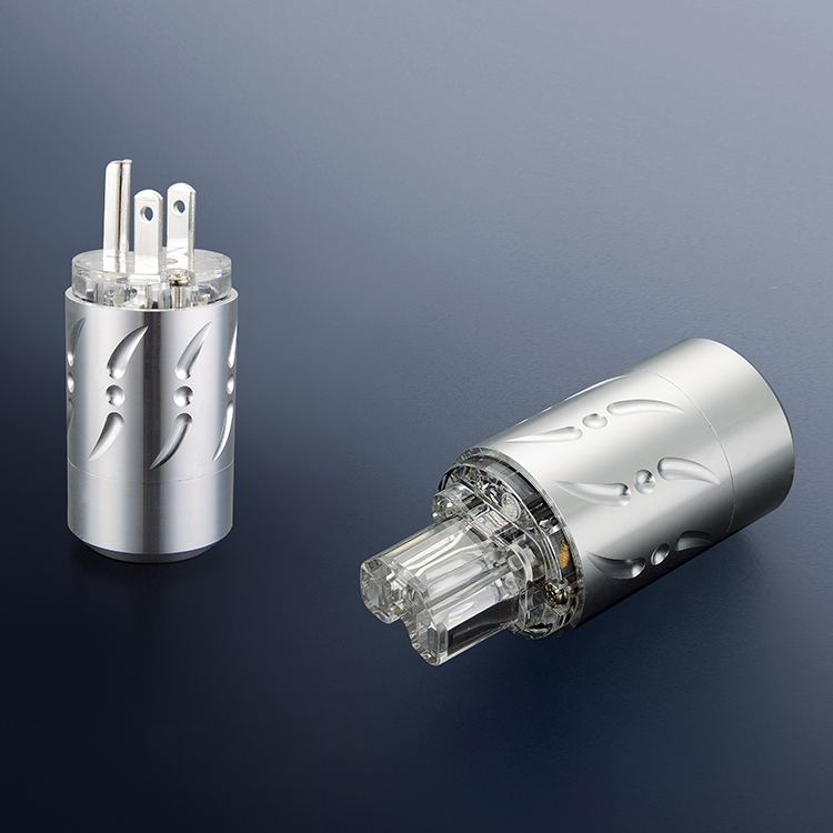 Viborg VM512R+VF512R Pure Copper Rhodium Plated hifi US Power Plug Audio Power Connector IEC Plug viborg vb202r hi end rhodium plated lock speaker cable banana plug connector x