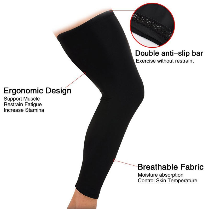 fc9761a3a4 1Pcs Leg Compression Sleeve Women Men Youth Basketball Sports Footless Calf  Compression Socks Knee Brace Support Helps Muscles-in Braces & Supports  from ...