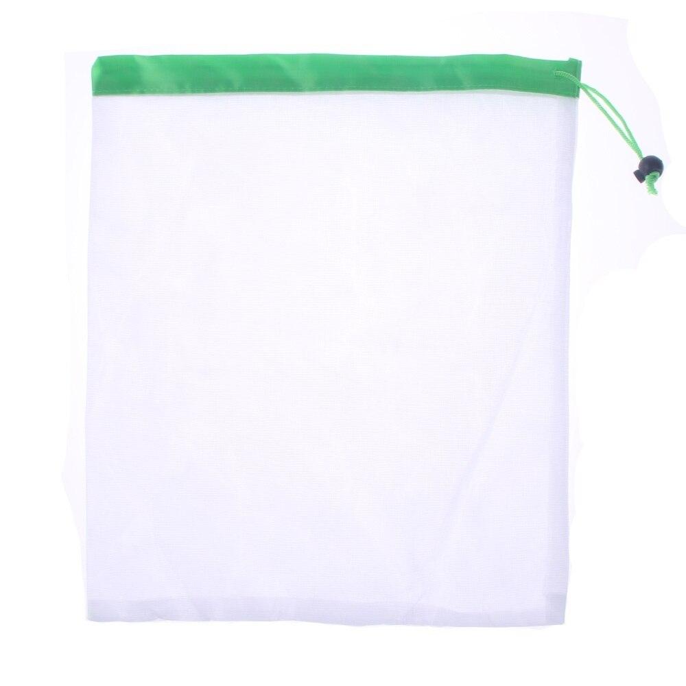 1 Pcs/3 Pcs/5 Pcs Herbruikbare Mesh Produceren Bags Wasbare Eco Vriendelijke Tassen Voor Kruidenier Opslag Fruit Groente Tote Boodschappentas