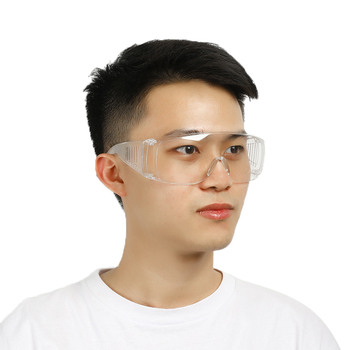 Clear Anti Dust Safety Glasses Made With PE Material For Factory And Lab Outdoor Work