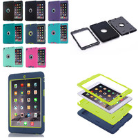 LD Luxury Heavy Duty Silicone Tablet PC Case Cover Outdoor For Apple IPad Mini 1 2