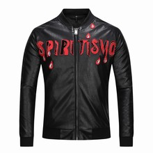 F. N. JACK Mode mannen Faux Lederen Jas Mode Plus Size Kwaliteit Motorfiets Jassen Man Fashion Bovenkleding(China)