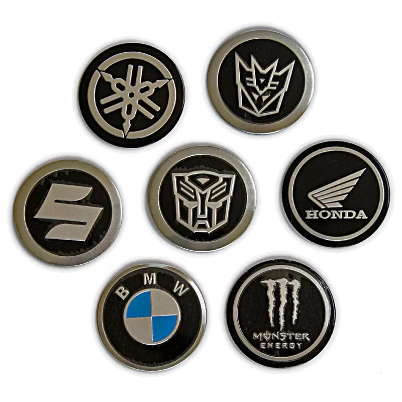 General Scooter Electric Vehicles Motorcycle Accessories For BMW Kawasaki Transformers Honda Yamaha Logos Metal Stickers Decal