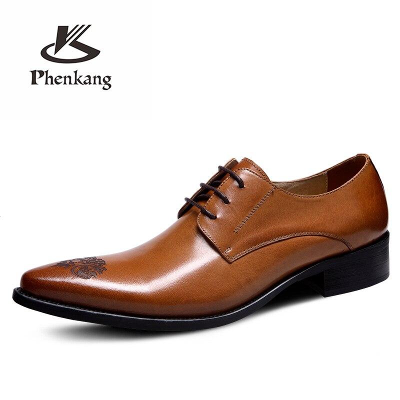 Herren formale schuhe leder oxford schuhe für männer dressing hochzeit männer brogues büro schuhe lace up männlichen zapatos de hombre-in Formelle Schuhe aus Schuhe bei  Gruppe 3