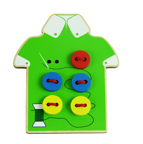 Lace Up Shoes and Wear The Button Montessori Practice Toys