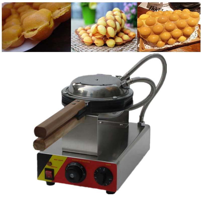 Commercial Stainless Steel Electric Egg Waffle Machine QQ Egg Bubble Waffle Maker 110V 220V Snack Equipment Egg Ball Machine 10oz stainless steel 110v 220v electric commercial popcorn machine with temperature control