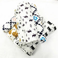 Newborn Baby 100% Organic Cotton Infant Soft Receiving Blankets Cartoon Swaddle Bedding Wrap For Baby 100*140cm