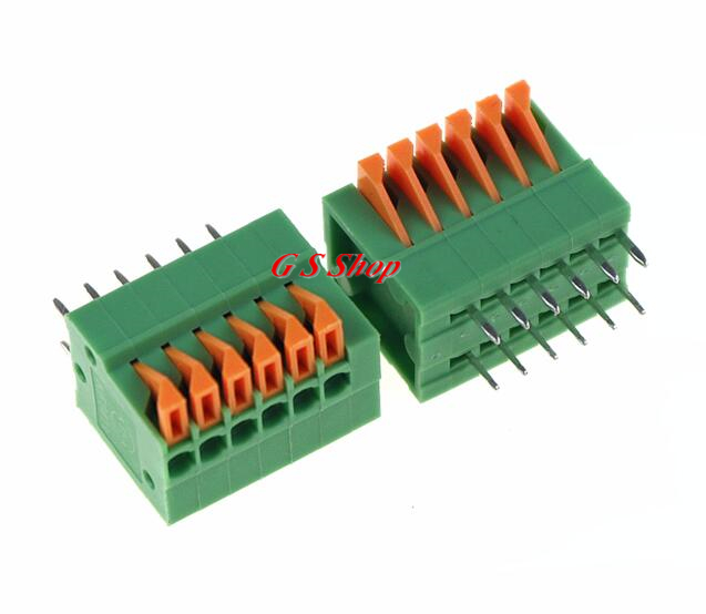 10PCS 2.54mm Terminal Blocks Connector 6P KF141R Can be stitching Straight Pin Green Environmental Protection 150V/2A зарядное устройство и аккумулятор gp powerbank pb420gs130 1300mah aa 4шт