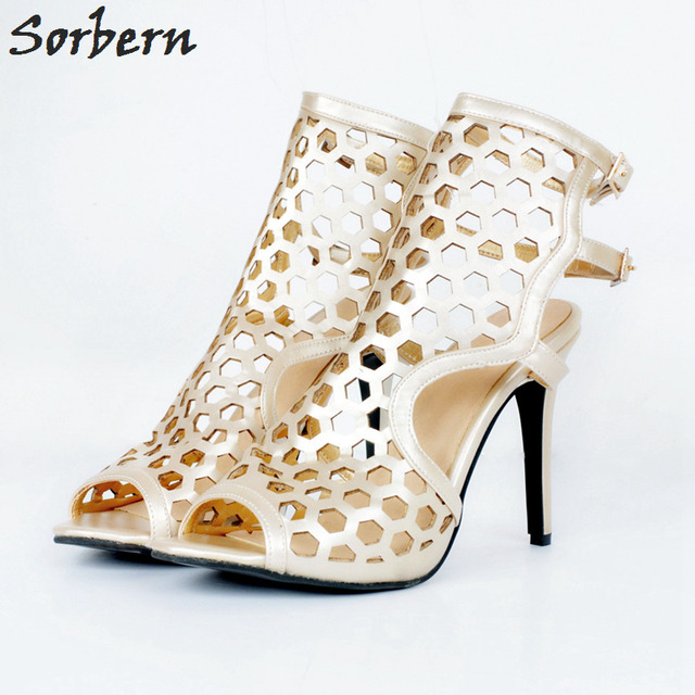 689d30a1f Sorbern Large Sizes Womens Shoes Women Sandals Shoes High Heels Sexy High  Heel Sandals 2018 Plus Size 34-48