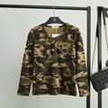 Women Camouflage T-Shirt Vrouwen Autumn Army Long Sleeve T shirts Poleras de Mujer Camiseta Femenina