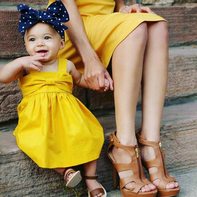 2017 Pre Sale New Baby Dress Infant Girl Dresses Lemon Color Baby
