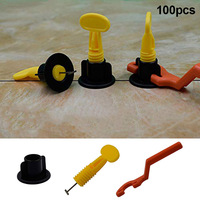 100Pcs Flat Ceramic Floor Wall Construction Tools Reusable Tile Leveling CLH@8